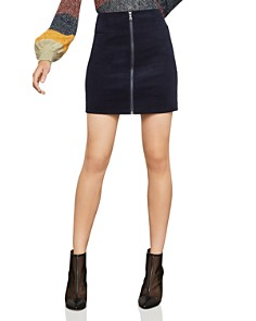 BCBGMAXAZRIA - Zip-Front Corduroy Mini Skirt - 100% Exclusive
