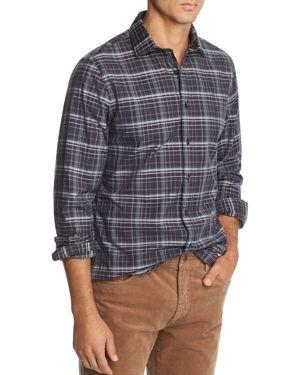 The Men's Store at Bloomingdale's Plaid Broadcloth Slim Fit Shirt - 100% Exclusive