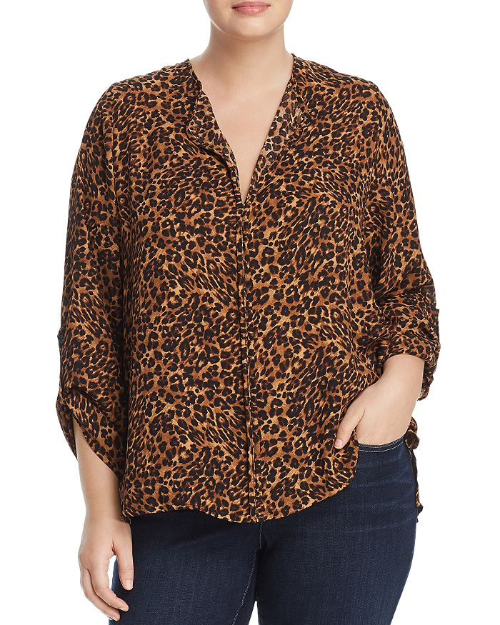 B Collection by Bobeau Curvy - Cristy Cheetah-Print Top