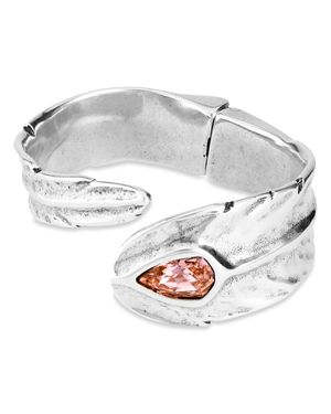 Uno de 50 Look at Me Crystal Bypass Cuff Bracelet