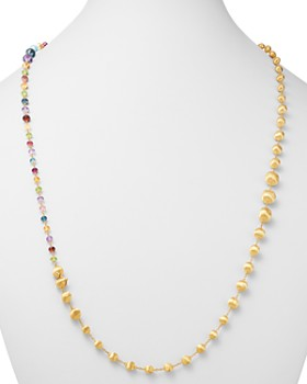 Marco Bicego - 18K Yellow Gold Africa Amethyst, London Blue Topaz, Blue Topaz, Citrine, Peridot, Garnet & Pink Tourmaline Convertible Necklace, 36""