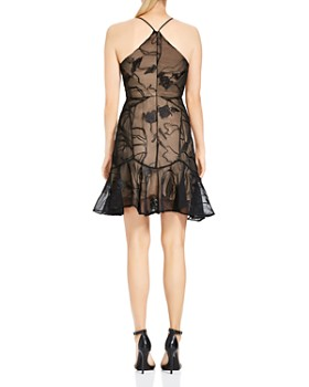 HALSTON HERITAGE - Soutache A-Line Mini Dress
