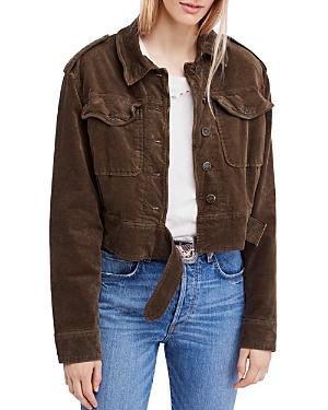 Free People Everlyn Cropped Velvet Jacket