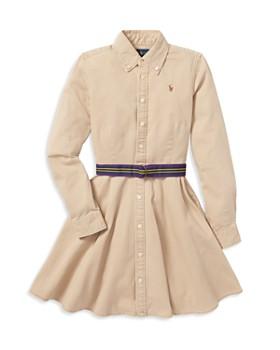 Ralph Lauren - Girls' Chino Shirt Dress with Belt - Big Kid