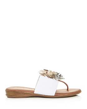 Andre Assous - Women's Novalee Thong Demi-Wedge Sandals