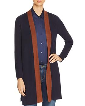 Eileen Fisher Petites - Long Open-Front Cardigan