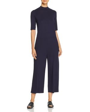 Eileen Fisher Petites Cropped Wide-Leg Jumpsuit