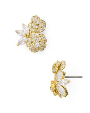 That Special Sparkle Stud Earrings in Clear Gold