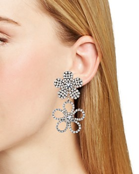 Dannijo - Marigold Double Flower Pavé Drop Earrings