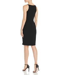 AQUA - Side-Drape V-Neck Dress - 100% Exclusive