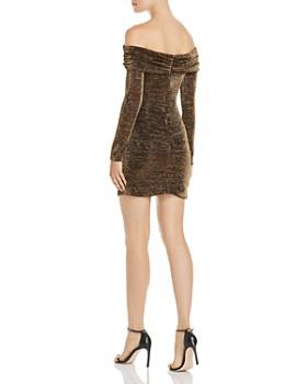 Rachel Zoe - Blake Off-the-Shoulder Shimmer Mini Dress - 100% Exclusive