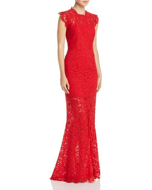 Rachel Zoe Estelle Open Back Lace Gown   Bloomingdale\'s