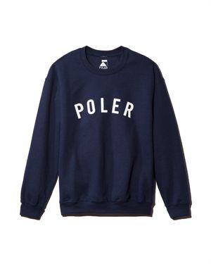 POLER State Graphic Crewneck Sweatshirt in Navy