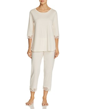 Hanro - Valencia Cropped Pajama Set