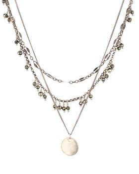 """Chan Luu - Layered Stone & Pendant Necklace, 15"""""""