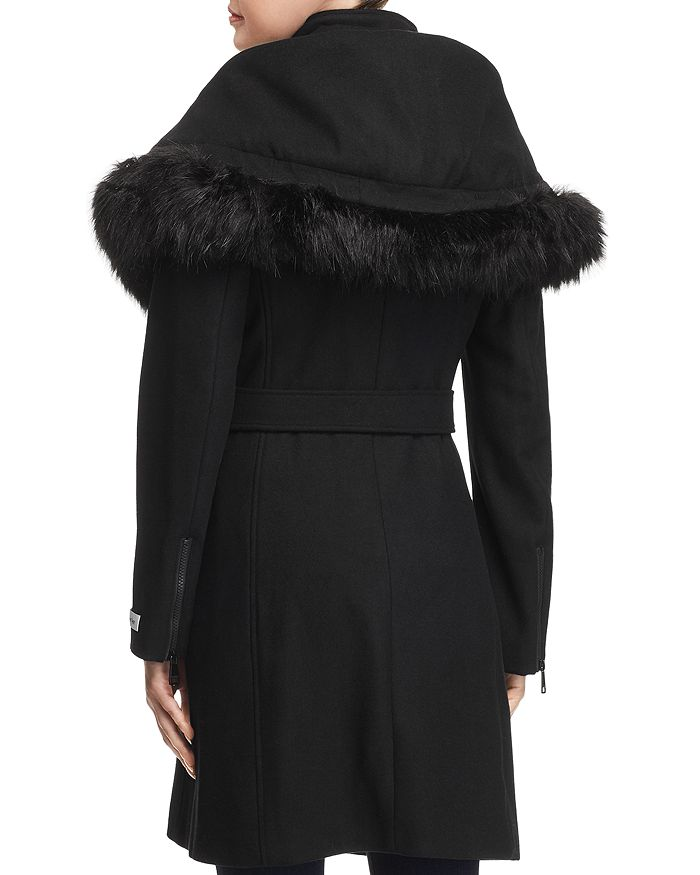 db9ebdac1 Calvin Klein Shawl Collar Faux Fur Trim Coat | Bloomingdale's