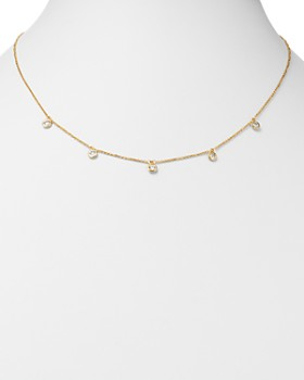 Bloomingdale's - Diamond Bezel Set Station Necklace in 14K Yellow Gold, 0.50 ct. t.w. - 100% Exclusive