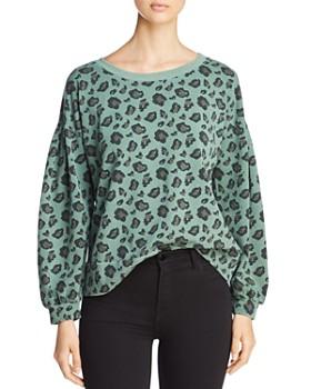 Billy T - Blouson-Sleeve Animal Print Sweatshirt