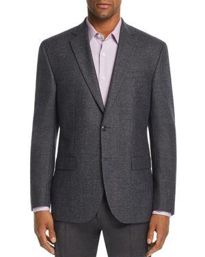 JACK VICTOR Birdseye Regular Fit Sport Coat in Blue/Gray