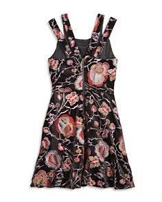 Miss Behave - Girls' Nancy Split-Strap Embroidered Dress - Big Kid