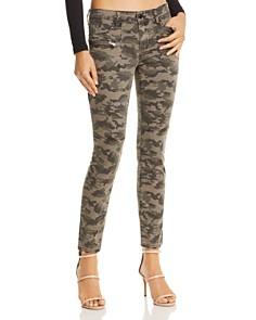 BLANKNYC - High-Rise Camo Skinny Jeans in Squadron - 100% Exclusive