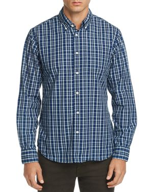 OOBE Riley Plaid Regular Fit Button-Down Shirt in Azul