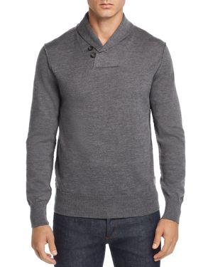 OOBE Fulton Shawl-Collar Pullover Sweater in Heather Gray