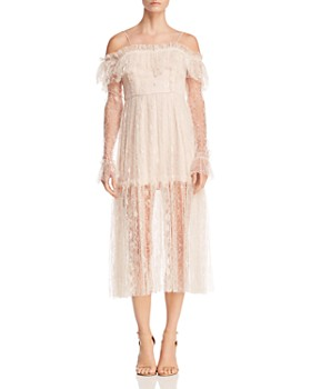 Alice McCall - Way You Are Cold-Shoulder Lace Dress