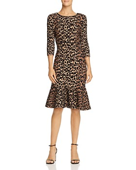 MILLY - Textured Leopard-Print Dress