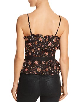 JOA - Floral Print Bustier Top