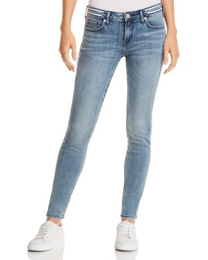 TRUE RELIGION HALLE MID RISE SKINNY JEANS IN TEAM SPIRIT BLUE