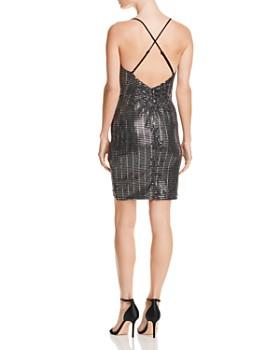 AQUA - Embellished Ruched Dress - 100% Exclusive