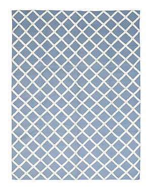 Solo Rugs Flatweave Blue Hand-Knotted Area Rug, 9'1 x 12'1