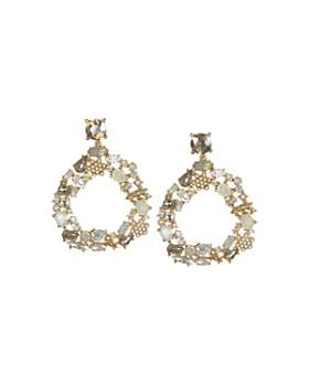 Badgley Mischka - Circle Drop Earrings