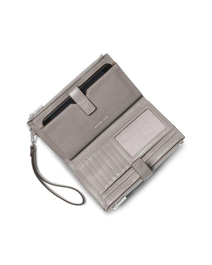 dddce7eddd8bf MICHAEL Michael Kors Adele Double Zip Leather iPhone 7 Plus Wristlet ...