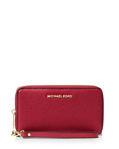 MICHAEL Michael Kors - Flat Multi-Function Large Leather Smartphone Wristlet