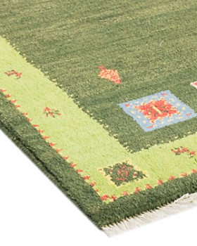 """Solo Rugs - Gabbeh Harris Hand-Knotted Area Rug, 2'10"""" x 4'0"""""""