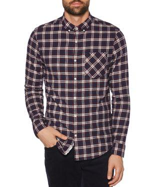 Original Penguin Plaid Flannel Regular Fit Button-Down Shirt