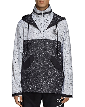 adidas Originals Universe Splatter-Print Color-Block Pullover Windbreaker Jacket