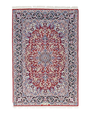 Solo Rugs Isfahan Delilah Hand-Knotted Area Rug, 3'7 x 5'5