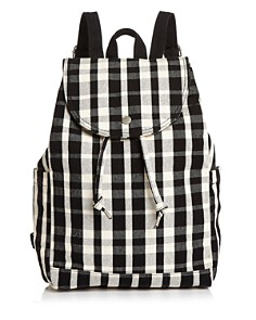 Baggu - Medium Plaid Canvas Backpack
