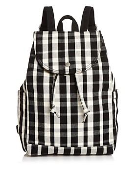 Baggu - Medium Plaid Canvas Backpack