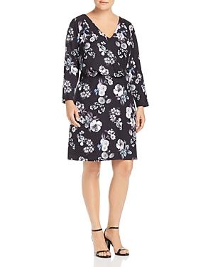 Adrianna Papell Plus Floral-Print Dress