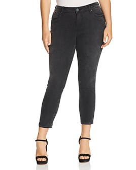SLINK Jeans Plus -  High Rise Ankle Skinny Jeans in Sasha