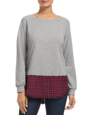 Billy T Plaid Shirttail Sweatshirt