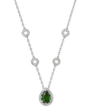 Bloomingdale's Chrome Diopside & Diamond Pendant Necklace in 14K White Gold, 18 - 100% Exclusive