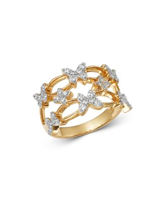 a8a2667e6f9c4 Shoptagr | Diamond Butterfly Cocktail Ring In 14 K Yellow Gold, 0.60 ...