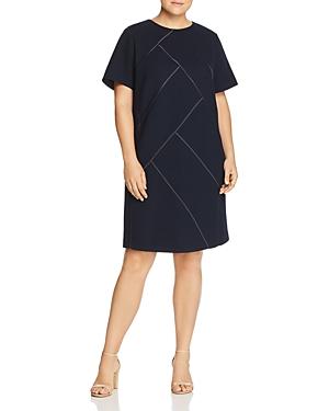 Lafayette 148 New York Plus Henora Wool Shift Dress