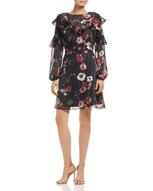 Adrianna Papell Serene Garden Ruffle Dress