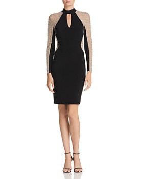 Avery G - Embellished Choker Dress
